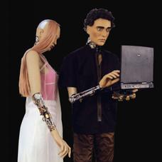 5_Automi, 2000, manichini, protesi anatomiche, apparati meccanici, PC, DVD, h 180 cm