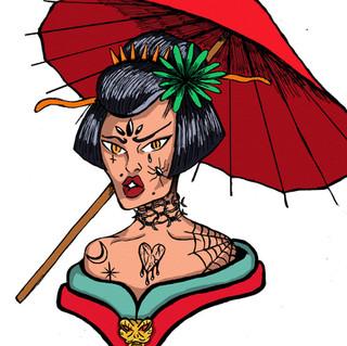 geisha trasheada