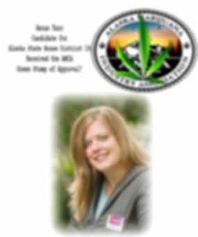 Geran Tarr - candidate green leaf stamp.
