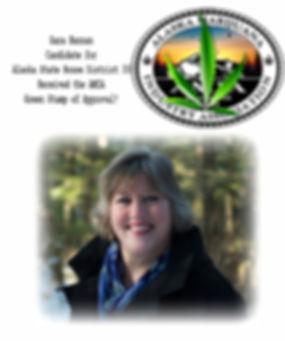 Sara Hannan - candidate green leaf stamp