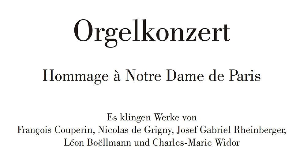 Organconcert Hommage à Notre Dame