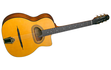 גיטרת ג'יפסי עם פתח גדול