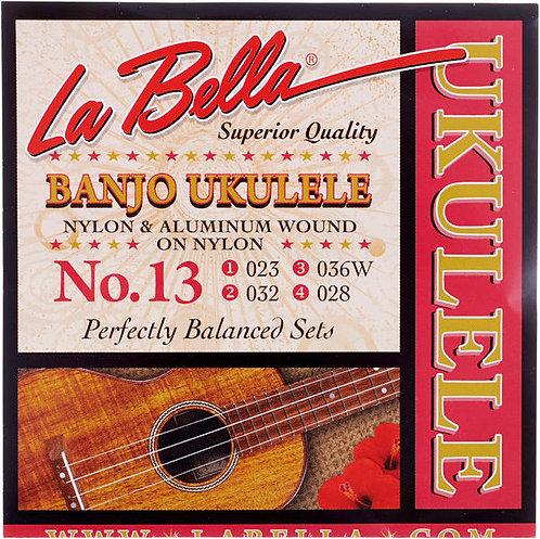 La Bella מיתרים לבנג'ו יוקללי