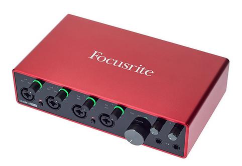 Focusrite Scarlett 18i8 3rd Gen ממשק הקלטה