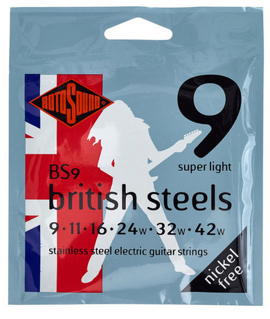Rotosound  British Steels מיתרים לגיטרה חשמלית