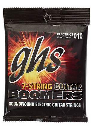 GHS Boomers סט מיתרים לגיטרה חשמלית 7 מיתרים