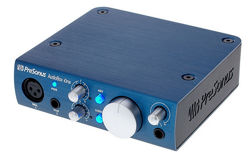 Presonus AudioBox iOne ממשק הקלטה