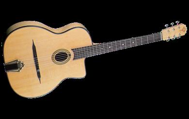 גיטרת ג'יפסי עם פתח קטן