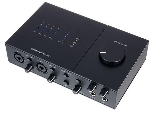 Native Instruments Komplete Audio 6 MK2 ממשק הקלטה