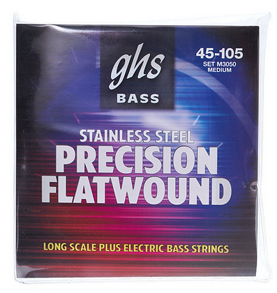 GHS 3050M Flatwound סט מיתרים לגיטרה באס