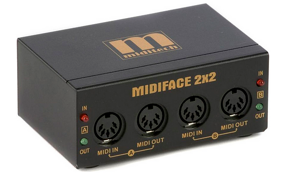Miditech MIDIface 2x2 ממשק מידי
