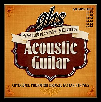 GHS Americana מיתרים לגיטרה אקוסטית