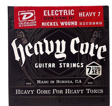 Dunlop Heavy Core סט מיתרים לגיטרה 7 מיתרים
