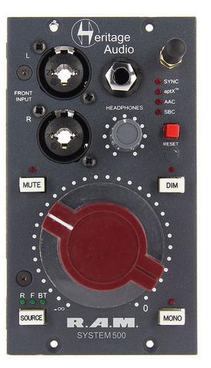 Heritage Audio RAM System שליטה במוניטורים