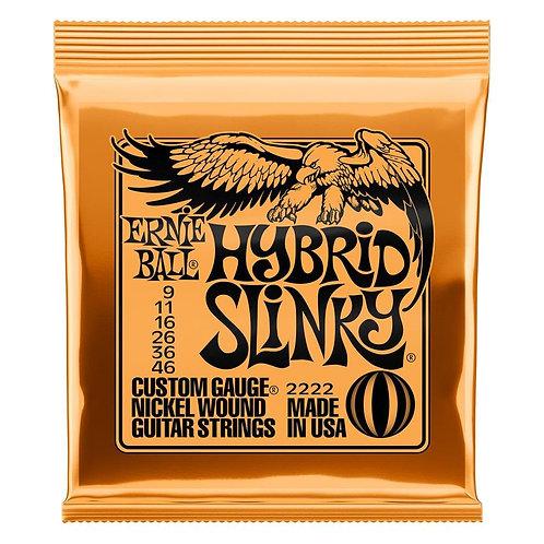 סט מיתרים לגיטרה חשמלית Ernie Ball 2222 Hybrid Slinky Nickel Wound 9-46