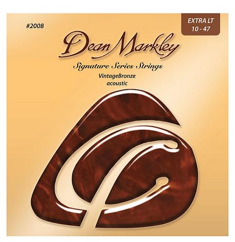 Dean Markley Vintage Bronze מיתרים לגיטרה אקוסטית