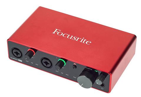 Focusrite Scarlett 4i4 3rd Gen ממשק הקלטה