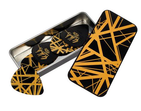 Dunlop EVH Black/Yellow Stripes קופסת מפרטי