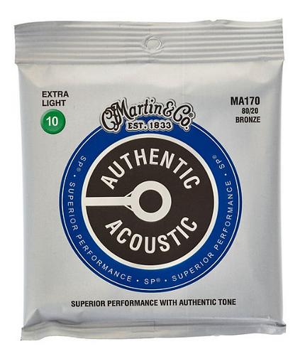 Martin Authentic מיתרים לגיטרה אקוסטית 80/20
