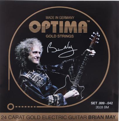 Optima סט מיתרים לגיטרה בראין מיי חשמלית מצופה זהב