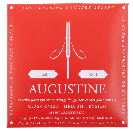 Augustine Concert Red מיתרים לגיטרה קלאסית