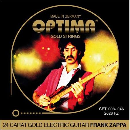 Optima סט מיתרים לגיטרה פראנק זאפה חשמלית מצופה זהב