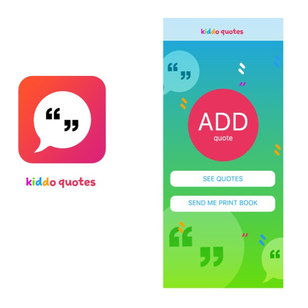 KIDDO QUOTES UI IPHONE APP DESIGN