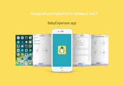 BabyExpenses app mockup