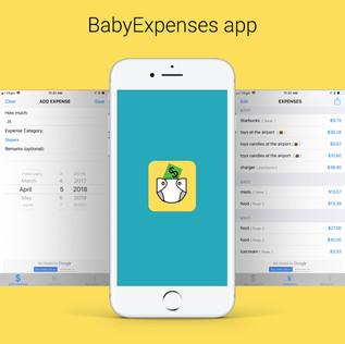 BABY EXPENSES UX, UI, IPHONE APP DESIGN