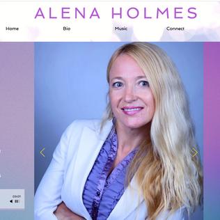 ALENA HOLMES UI, WEB DESIGN