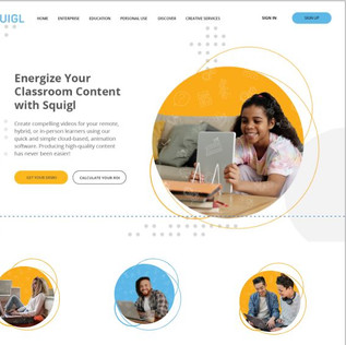 SQUIGL WEBSITE REDESIGN