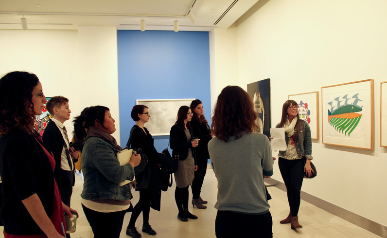 """Temporal Re-Imaginings"" Tour with curator Alex Nahwegahbow."