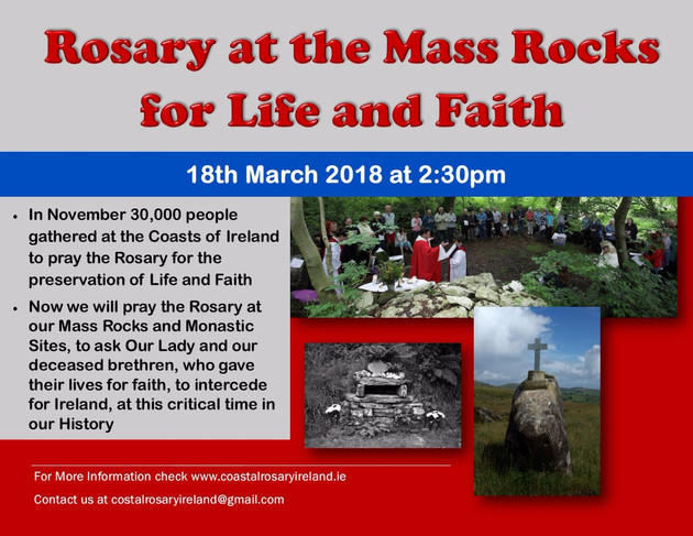 100 day count down to May 25th | Rosary on the Coast Ireland