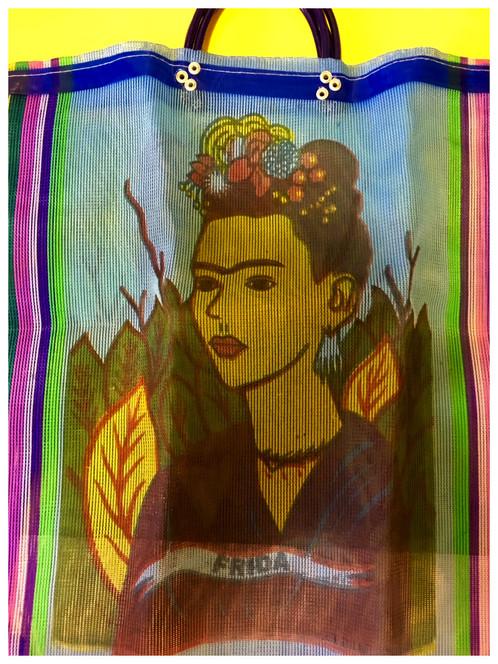 8574fdfc255e Frida Kahlo Market Bag dark blue