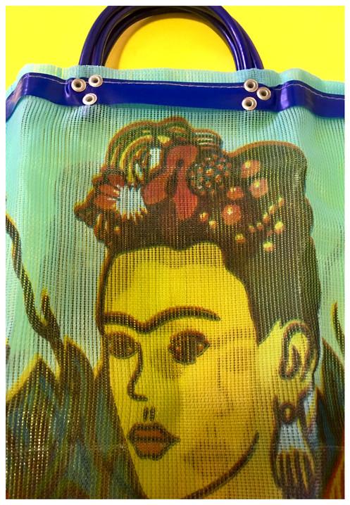 4d6f51942a15 Frida Kahlo Market Bag light blue