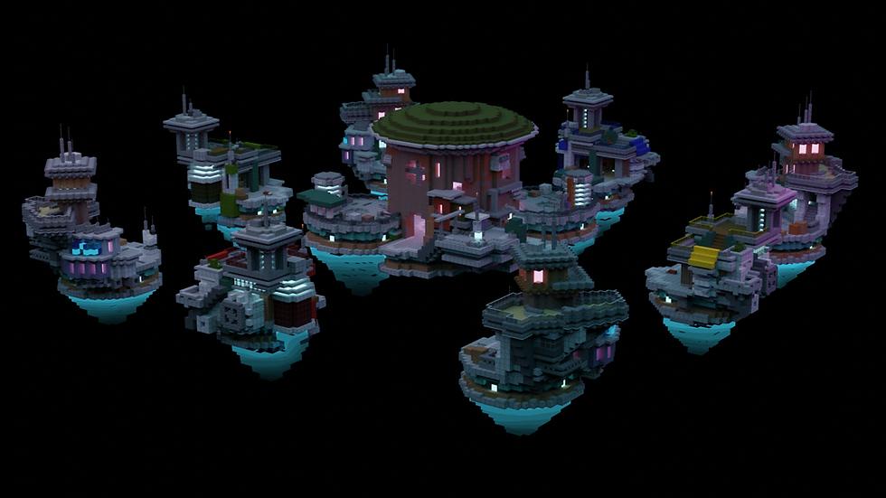 Cyberpunk Bedwars Map