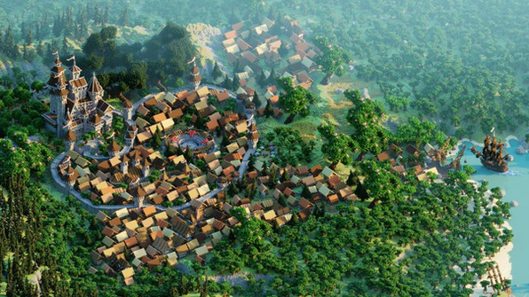 Massive Village + Castle