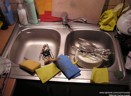 Can't Clean Dishes In A Dirty Sink!