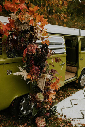 Fall Floral Install