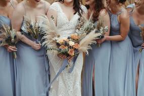 Dusty Blue Boho Bouquets