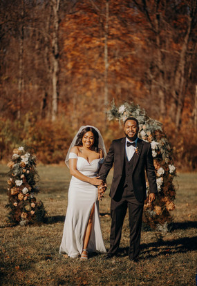 National Park Wedding with Floral Pillars