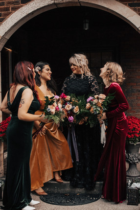 Jewel Toned Maids in Velvet