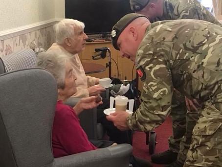 Maple Lodge - Scots Guard Remembrance Service Visit