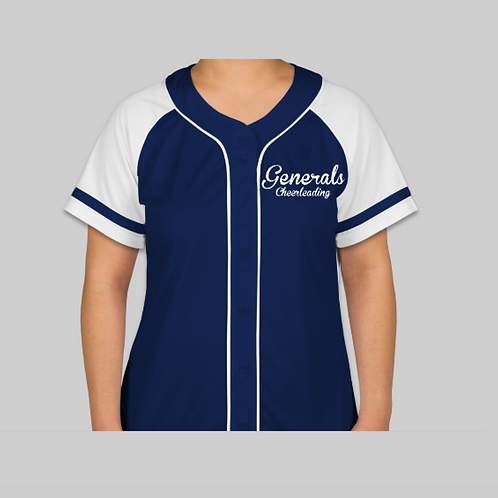 Ladies Button Front Jersey