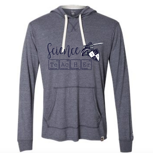Navy Science Teacher Hooded Pullover