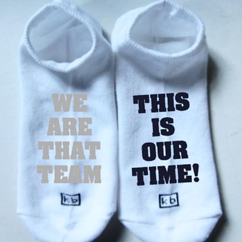White No-Show Socks