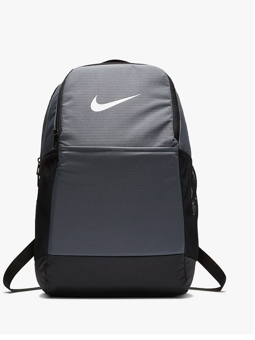 Grey Nike Embroidered Backpack