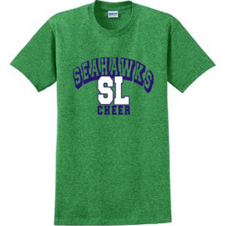 Seahawks Cheer Shirt- Heathered Green