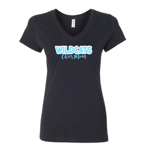 Wildcats V-Neck Cheer Mom Tee