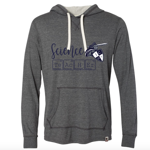 Charcoal Science Teacher Hooded Pullover